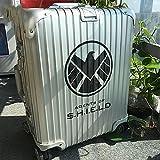 CHUDU Marvel Movie God Shield Bureau Transparent Réfrigérateur Valise Valise Code Boîte Autocollant