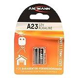 ANSMANN Pile alcaline A23/LR23-12 V - Idéale pour Les télécommandes de Porte de Garage avec Longue durée de Vie - Également pour Calculatrice, balances, Montres et clés de Voiture.