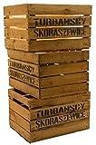 Kistenkoli Altes Land Lot de 3grosses caisses à fruits «TS» caisses à vin ou à pommes en bois Shabby Vintage by Kistenkolli Altes Land