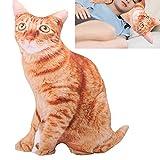 Seacanl Coussin de Chat Animal, Oreiller élastique Confortable en Forme de Chat pour Coussin de Dos pour Regarder la télévision pour Lire au lit pour Coussin de canapé(Cat Pillow)