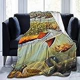 Couverture en microfibre jetée couverture Brook Trout pêche à la mouche impression ultra-douce floue poids léger confortable couverture moelleuse en peluche en microfibre pour canapé lit chaise salon