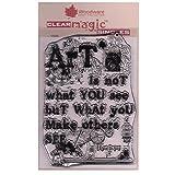 Woodware Frs663clair Magic Art est Ensemble de tampons, Transparent