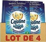 Cajoline Intense Sachets pour Armoire Fraîcheur Printanière (Lot de 4x3 Sachets)