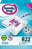 Handy Bag - R22 - 4 Sacs Aspirateurs, pour Aspirateurs Rowenta, Delonghi et Firstline, Fermeture Hermétique, Filtre Anti-Allergène, Filtre Moteur