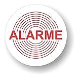 Decooo.be Autocollants dissuasifs Alarme - Qualité Extérieur (Pluie, UV,…) - Rond - 45mm - Kit de 10