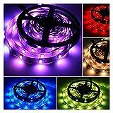 QINGJIA Lumières de LED Multicolores et dimmables avec 150 lumières étanche lumières colorées 30 lumières par mètre décor Ruban de Fond lumière lumière décoration Feux (Color : EU)