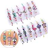 Tacobear 12 PCS Bracelet Fille Bracelet Amitié pour Enfant Licorne Bracelet Cordon Bracelet Tressé pour Cadeau Anniversaire Fille