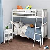 NICEE Lit superposé en pin Massif en Style Minimaliste Blanc, Enfants Adultes, Installation d'un lit superposé Simple et détachable NICEY