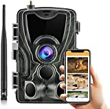SUNTEKCAM 4G Caméra de Chasse Caméra de Surveillance étanche 20MP 1080P HD 25m Grand Angle 120 ° Vision Nocturne Suivi IR Mise à Niveau de la caméra de Jeu de Nuit Infrarouge Version 801LTE-plus