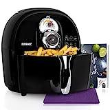 Duronic AF1 /BK Friteuse à air chaud sans huile 1500W / robot multicuiseur pour frire, cuire, rôtir, griller sainement et sans matières grasses + Livre de recettes gratuit