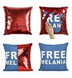 Générique Free Melania Trump Politics_P257 Pillow Taie, Décor du Foyer décoratif, drôle Cadeau pour Les Enfants, Finds Intéressant, Magique sirène réversible CoussinADD Pillow Insert