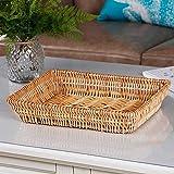 YbzyyqShop Rotin Stockage Osier Fruit Basket Weaving Snack Panier Panier de débris Mercerie Panier d'affichage buanderie, Chambre d'enfants