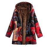Veste d'hiver à manches longues pour femme - Rouge - 3XL