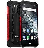 télephone Portable incassable (2019), Ulefone Armor X3 avec Mode sous-Marin, IP68 résistant Smartphone Etanche Android 9.0, Double SIM, 2 Go + 32 Go, Batterie 5000 mAh, Visage déverrouillé GPS Rouge