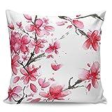 Winter Rangers Housse de coussin décorative - Motif fleurs de prunier - Style féminin - Ultra douce et confortable - Pour canapé, chambre à coucher, 40,6 x 40,6 cm