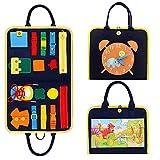 Busy Board pour Enfant Jouet Montessori, Jouets éducatifs Base jeu éducatif pour apprendre les boucles fermeture à glissière lacets et cravates,Puzzles de dinosaures, pour 1 2 3 4 Ans Garçons Filles