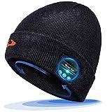 EVERSEE Bonnet Bluetooth Cadeaux Hommes Original - Unisexe Music Bonnet Bluetooth Chapeau avec écouteurs Stéréo sans Fil, Doux Chaleureux Bonnet Bluetooth d'hiver