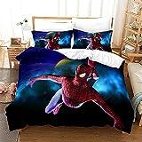 GSYHZL Taie d'oreiller de Housse de Couette à Motif d'impression 3D Spiderman,Simple Double King Size,Ensemble de literie préféré pour garçons,Adolescents-Spiderman 16_173x218(2PCS)