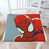 RRAN Coussin de Chaise Spiderman Coussin en Coton Et en Lin Coussin d'hiver Chaud à Manger Chaise Chaise D'ordinateur Butt Pad Washable Tatami Chaise De Bureau Antidérapante Coussin A- 45 * 45cm