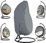 Queta Housse de Fauteuil Suspendu Jardin Rotin Osier Fauteuil Suspendu Imperméable Housse Housse de Protection pour œufs Chaise résistant à l'eau et à la poussière - 190 X115cm (Gris)