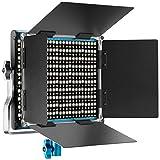 Neewer 10095685 660 LED Panneau Lumière Vidéo LED Bicouleur Lampe Vidéo Eclairage LED pour Studio Photo Vidéo Youtube avec Support en U et Coupeflux 3200-5600K CRI 96+ (Bleu)