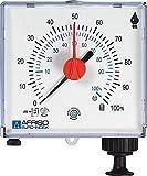 Afriso Jauge de réservoir pneumatique jusqu'à 50 mètres 72500 - Blanc