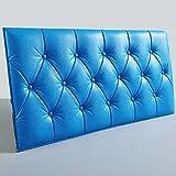 JXBoos Tête de lit rembourrée Panneaux muraux, Chambre Enfants Anticollision Sécurité 3D Wall Stickers Doux Épais Décoration de Mur 3D Easy Clean-Ciel Bleu 30x60cm(12x24inch)