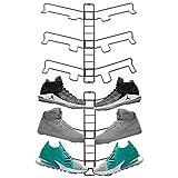 mDesign rangement chaussures (lot de 2) – étagère chaussure murale ajustable pour trois paires de baskets, chaussures de sport, etc. – gain d'espace part rapport à une armoire chaussures – bronze