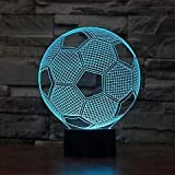 3D veilleuse lampe de Table dessin animé Hollywood film de science-fiction super-héros avion noël enfants cadeau décor Football Football Sports