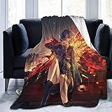 XCNGG couvertures de literie couvertures de sieste couvertures de climatisation Tokyo Ghoul Ultra Soft Blanket Throw Flannel Warm Fluffy Blankets, Children's Blanket Velvet Anti Pilling Fleece Easy to