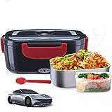 Janolia Boîte à Repas Électrique, Boîte à déjeuner électrique Portable pour Voiture, Réchauffeur d 'Aliments portatif, Bol d' Acier Inoxydable, Plat de Classe P, 12V et 5W