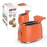 Imetec TS11500Grille-Pain, 5Niveaux de Dorures 2Pinces Inoxydable, Timer avec Arrêt Automatique, Indicateur Lumineux, Tiroir Miette, 500W
