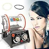 OUkANING - Polisseuse à bijoux - 45 W - 220 V - Mini tambour rotatif pour polir les bijoux - 3 kg - Perle de polissage offerte
