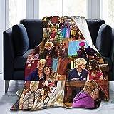 Austin Blanket & Ally Couverture douce en flanelle polaire toutes saisons légère pour canapé, salon, chambre à coucher, noir, 127 cm x 40 cm