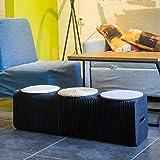 Chaises de papier de pliage de Kraft, poids léger portatif évolutif de tabourets de papier, chaises pliantes de papier idéales pour le noir d'intérieur et extérieur de vie,Black,A28X30X8cm