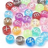 Cheriswelry Environ 370 perles en acrylique de 7 mm de diamètre - Disques ronds et plats - Pour la fabrication de bijoux