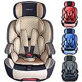 XOMAX XL-518 Siège Auto pour Enfant avec ISOFIX I 9-36 kg, 1-12 Ans, Groupe 1/2/3 I Harnais 5 Points et 3 Points I Housse Amovible et Lavable I ECE R44/04 I Beige