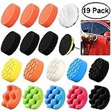 WINOMO 19Pcs 3-inch éponge tampons pour polir avec M10 foret pour polisseuse de voiture