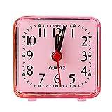 KItipeng Réveil en Ligne,Reveil Matin,Réveil de Voyage, Réveil Quartz Analogique Alarme Silencieux,Snooze avec Veilleuse/Alarme Sonore Ascendante,Réveils mécaniques Digital Alarm Clock