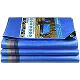 Bâche de Protection Bâche de Recouvrement Bâches de Couverture PE avec œillets Imperméable et Résistante Anti UV pour Home&Garden Piscine Camping Jardin Bleu Bâches 220g/m² (3 X 4 m)