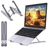 Babacom Support Ordinateur Portable, Support PC Portable Pliable et Ventilé, 6 Niveaux de Réglage, Refroidisseur Ergonomique Compatible avec MacBook Air, Pro, Dell, 10-15.6''
