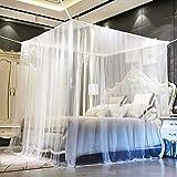 Moustiquaire de lit,Moustiquaire, Grande Moustiquaire, Moustiquaire Filet Baldaquin, Convient pour pour Lit Simple, Lit Double Moustiquaire