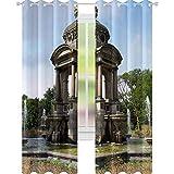 YUAZHOQI Monument Samuel Sarphati Rideaux occultants pour salon 132 x 183 cm