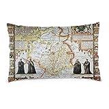 Taies d'oreiller 16X24 pouces Cambridgeshire ancienne carte, du théâtre de l'empire de la Grande-Bretagne jeter oreiller couvre canapé voiture housse de coussin décorative pour la maison 40X60 CM