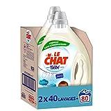 Le Chat Bébé – 80 Lavages (2x 2L) – Lessive Liquide Hypoallergénique spéciale Bébé et peaux sensibles