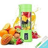 Presse-agrumes, BWORPPY mélangeur portatif de presse-fruits avec le câble d'USB, mélangeur de fruit de ménage pour le voyage de bébé, 380ml (vert)