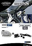 artago 32s2Cadenas antivol Disque avec Alarme 120dB Haute Gamme et Support pour Yamaha mt-07, Fermeture s.a.a, homologué SRA, Bunker Selection, Acier Inoxydable