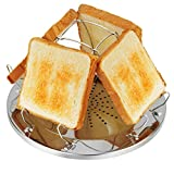 Jroyseter Kitchen Porte-Toast Porte-Toast en Acier Inoxydable Support Pliable Toast Rack pour Famille Camping en Plein Air Pique-Nique Grille-Pain Pliable