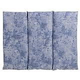 Coussin aux graines de colza - Taille 40x30-3 compartiments - used look bleu-gris - Coussin thermique - Coussin aux graines - Compresse froide -