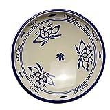 LHQ-HQ Bleu et Blanc Assiette Creuse en céramique Plat Peu Profond Bol Soupe Assiette de Riz Assiette Plat Vaisselle Chinoise Retro Blue Plate Commercial Maison Bord 9 Pouces